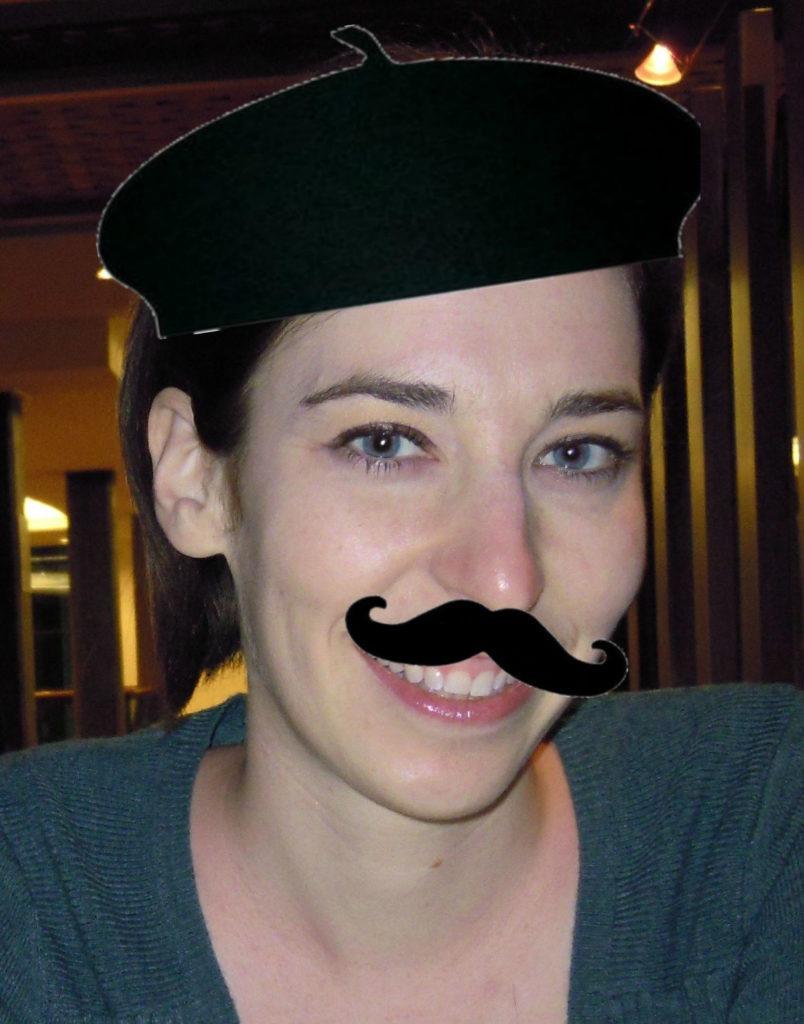 Amber Beret + Mustache