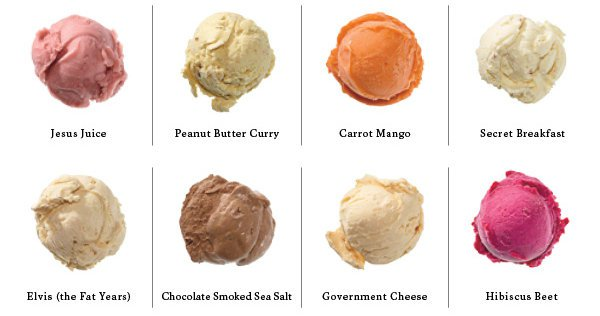 Weird Ice Cream Flavours